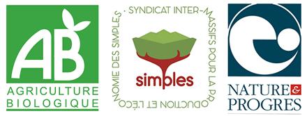 label bio AB et producteurs simples
